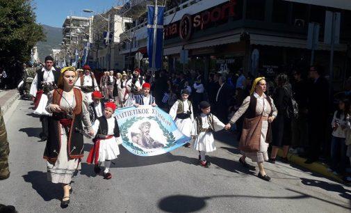 Λαμπρός Εορτασμός της 25ης Μαρτίου στη Καλαμάτα